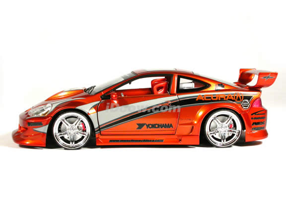 2002 Acura RSX diecast model car 1:18 scale die cast from Muscle Machines - Copper