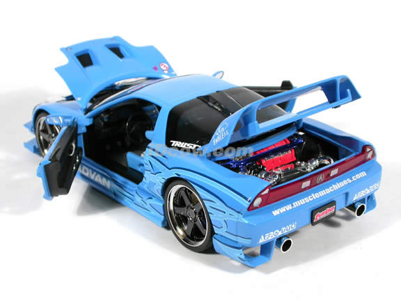 2003 Acura NSX Turbo diecast model car 1:18 scale die cast from Muscle Machines - Blue