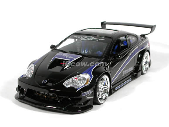 2002 Acura RSX diecast model car 1:18 scale die cast from Muscle Machines - black