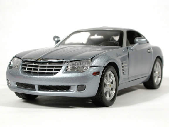 2004 Chrysler Crossfire diecast model car 1:18 scale die cast by Motor Max - Silver Blue