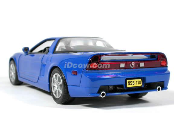2002 Acura NSX diecast model car 1:18 scale die cast by Motor Max - Blue
