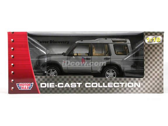2004 Land Rover Discovery diecast model SUV 1:18 scale die cast by Motor Max - Dark Grey