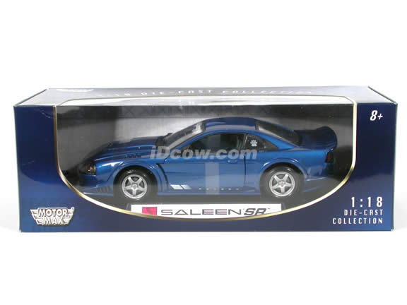 2000 Ford Mustang Saleen SR diecast model car 1:18 scale die cast by Motor Max - Blue