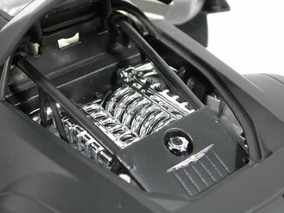 2005 Chrysler ME FOUR TWELVE Concept diecast model car 1:18 scale die cast by Motor Max - Satin Black 73138