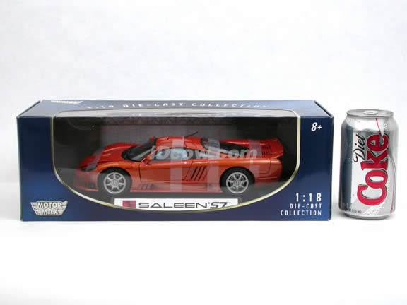 2001 Saleen S7 diecast model car 1:18 scale die cast by Motor Max - Copper