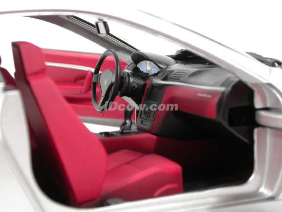 2008 Maserati Gran Turismo diecast model car 1:18 scale die cast by Mondo Motors - Silver 500413