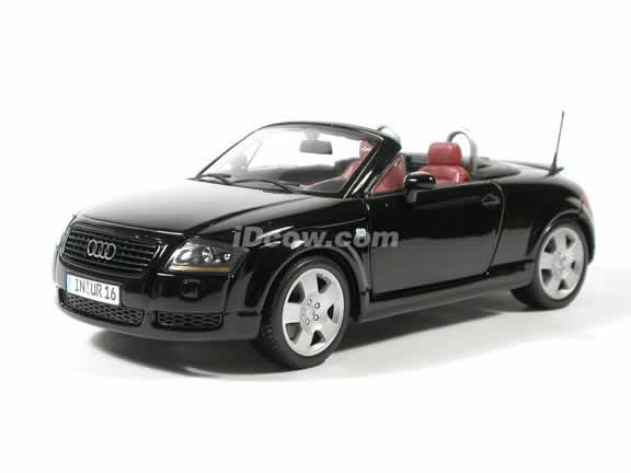 2001 Audi TT Roadster Diecast model car 1:18 scale die cast by Maisto - Black