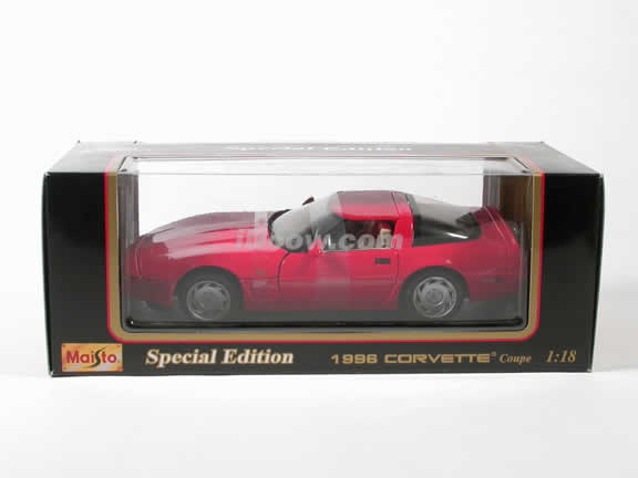 1996 Corvette diecast model car 1:18 scale die cast by Maisto - Red