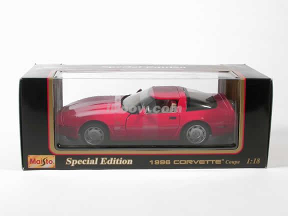 1996 Corvette diecast model car 1:18 scale die cast by Maisto - Red