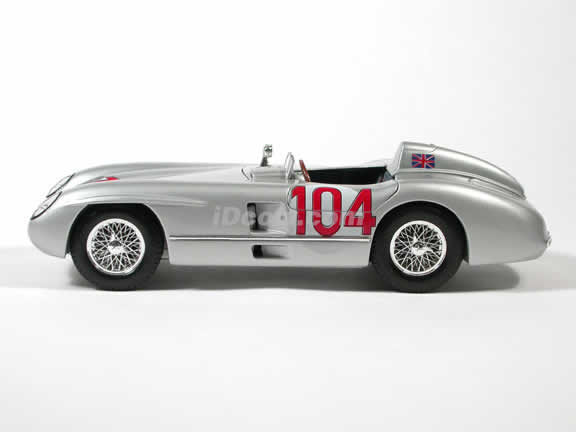 1955 Mercedes Benz 300 SLR Targa Florio #104 Diecast model car 1:18 scale die cast by Maisto