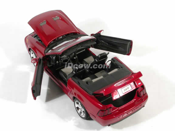 2003 Ford Mustang SVT Cobra Diecast model car 1:18 scale convertible by Maisto - Dark Red Convertible
