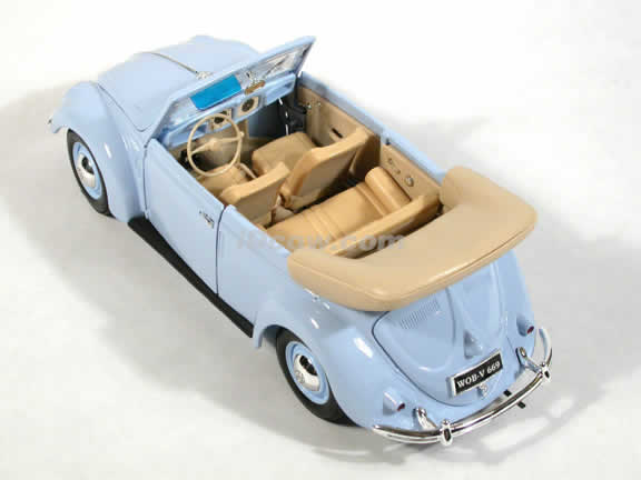 1951 Volkswagen Cabriolet diecast model car 1:18 scale die cast by Maisto - Baby Blue