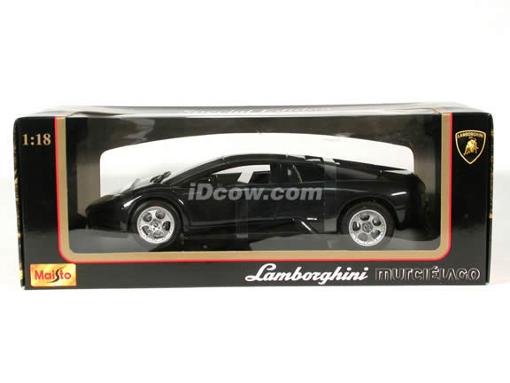 2002 Lamborghini Murcielago diecast model car 1:18 scale die cast by Maisto - Black