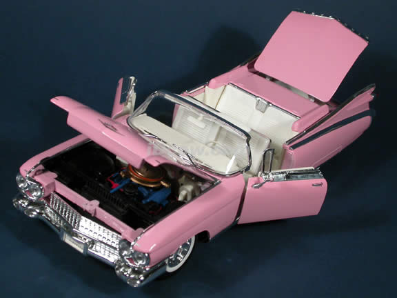 1959 Cadillac Eldorado Biarritz diecast model car 1:18 scale die cast by Maisto - Pink