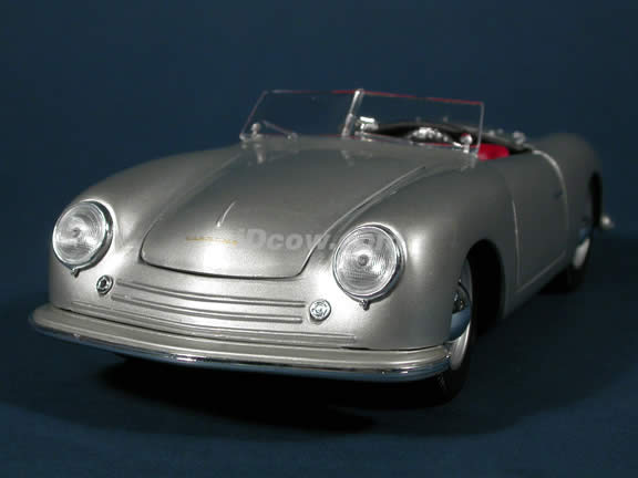 1948 Porsche 356 Roadster diecast model car 1:18 scale die cast by Maisto - Silver
