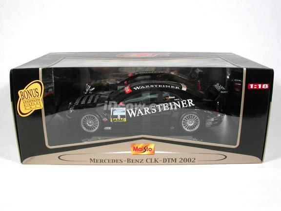 2002 Mercedes Benz CLK diecast model car 1:18 scale DTM Warsteiner AMG #5 by Maisto