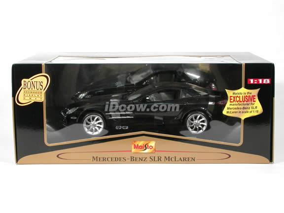 2005 Mercedes Benz McLaren SLR diecast model car 1:18 scale die cast by Maisto - Black