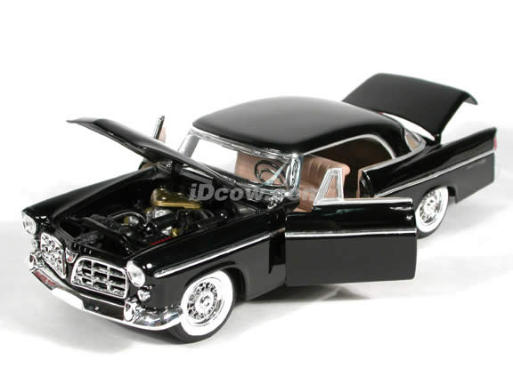 1956 Chrysler 300B diecast model car 1:18 scale die cast by Maisto - Black