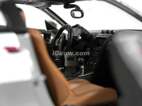2004 Nissan 350Z Nismo S-Tune diecast model car 1:18 scale die cast by Maisto - Silver