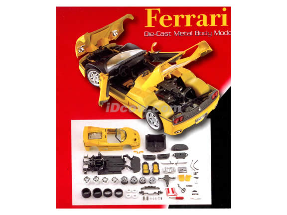 1995 Ferrari F50 diecast model car kit 1:18 die cast by Maisto - Yellow