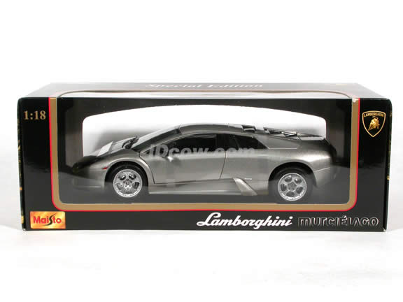 2002 Lamborghini Murcielago Diecast model car 1:18 scale die cast by Maisto - Silver