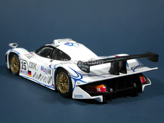 1998 Porsche 911 GT1 IBM - #25 Lemans Diecast model car 1:18 scale by Maisto