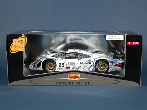 1998 Porsche 911 GT1 IBM - #25 Lemans Diecast model car 1:18 scale by Maisto