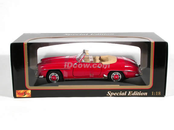 1955 Mercedes Benz 190 SL diecast model car 1:18 scale die cast by Maisto - Red
