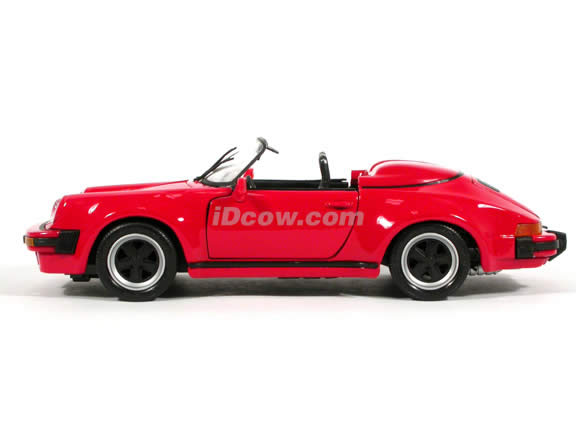 1989 Porsche 911 Speedster diecast model car 1:18 scale die cast by Maisto - Red