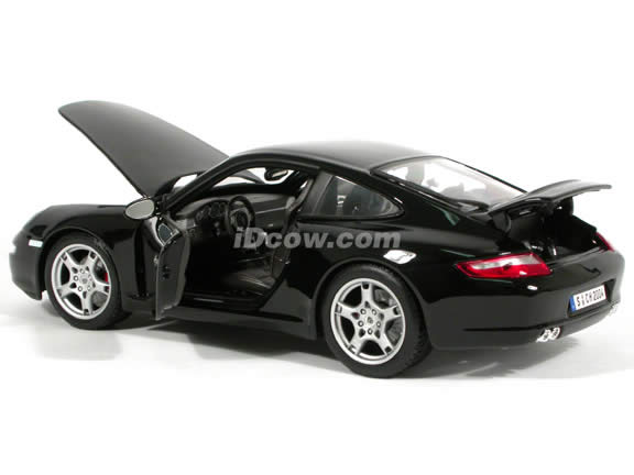 2005 Porsche 911 Carrera S diecast model car 1:18 scale die cast by Maisto - Black