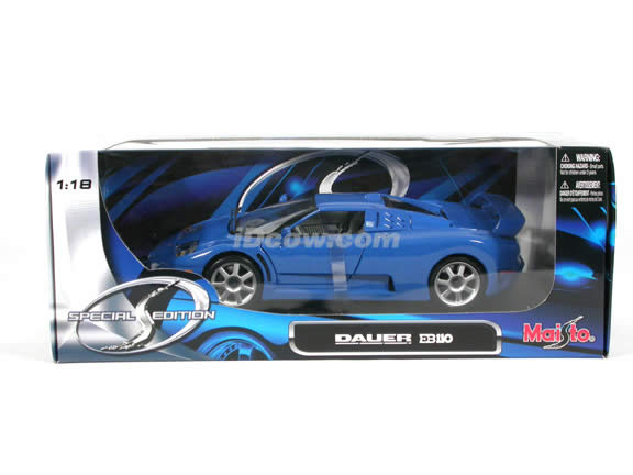 1994 Bugatti EB 110 diecast model car 1:18 scale die cast by Bburago - Blue