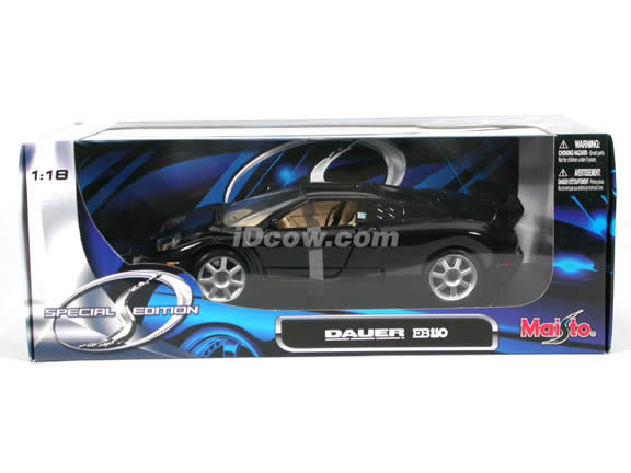 1994 Bugatti Dauer EB 110 Sport diecast model car 1:18 scale die cast by Maisto - Black