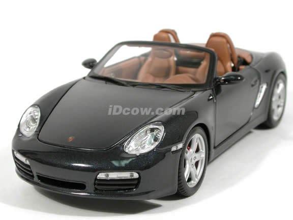 2005 Porsche Boxster S diecast model car 1:18 scale die cast by Maisto - Metallic Black