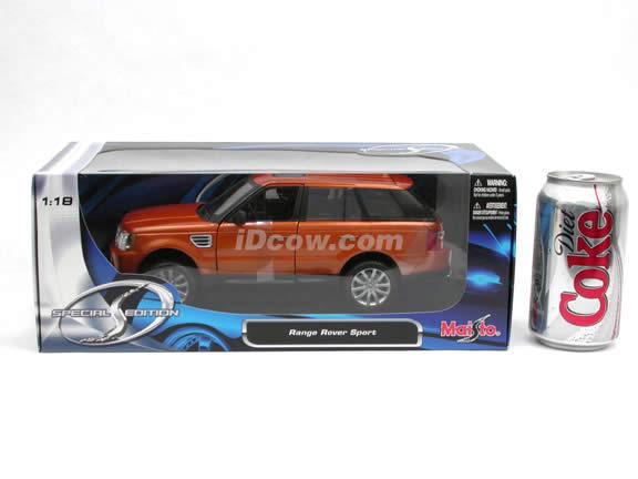 2006 Land Rover Range Rover Sport diecast model SUV 1:18 scale die cast by Maisto - Copper 31135