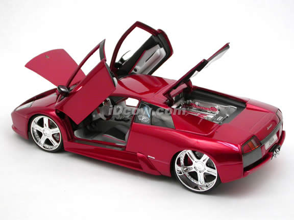 2005 Lamborghini Murcielago Coupe diecast model car 1:18 scale die cast by Maisto Playerz - Metallic Red 31053