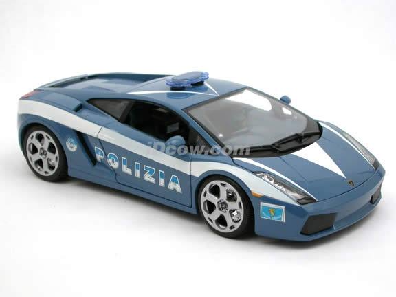 2004 Lamborghini Gallardo Police Car diecast model car 1:18 scale die cast by Maisto - 31121