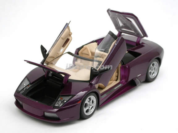 2005 Lamborghini Murcielago Roadster diecast model car 1:18 scale die cast by Maisto - Purple 31636