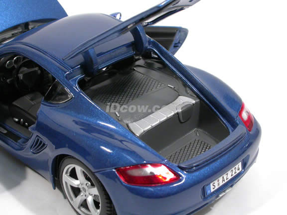 2006 Porsche Cayman S diecast model car 1:18 scale die cast by Maisto - Blue 31122