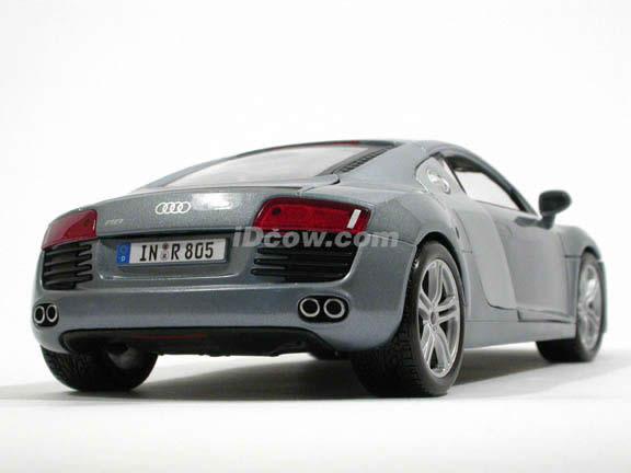 2008 Audi R8 diecast model car 1:18 scale die cast by Maisto - Light Blue Metallic 36143