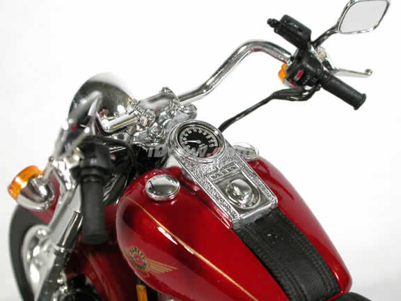 1999 Harley Davidson FAT BOY FLSTF Model Diecast Motorcycle 1:10 die cast by Maisto - Red