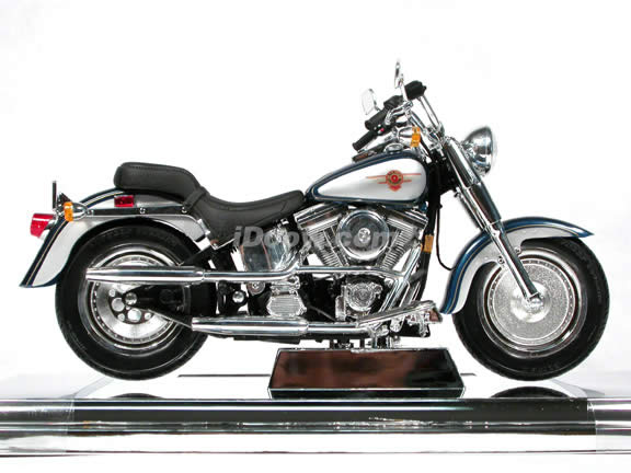 1999 Harley Davidson FAT BOY FLSTF Model cast Motorcycle 1:10 ...