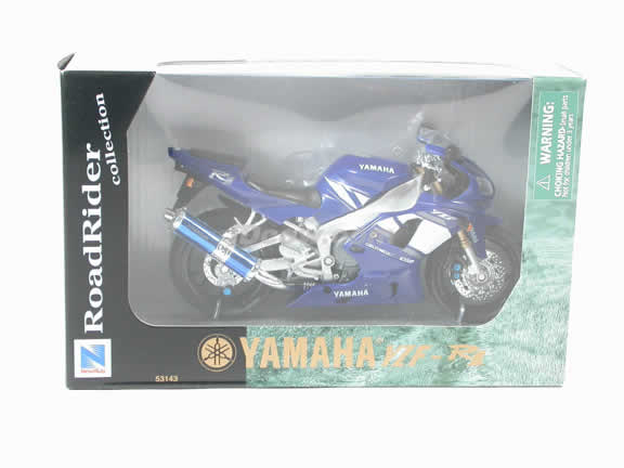 2001 Yamaha YZF R1 Model Diecast Motorcycle 1:12 die cast by NewRay - Blue