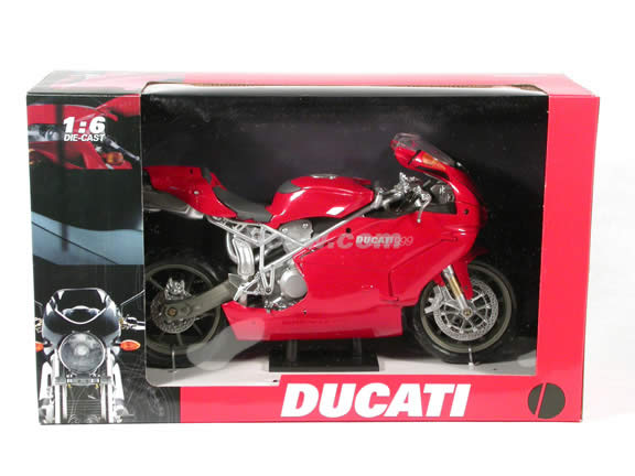 Ducati 999 diecast motorcycle model 1:6 scale die cast by NewRay - Red