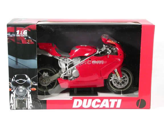 Ducati 999 diecast motorcycle model 1:6 scale die cast by NewRay - Red