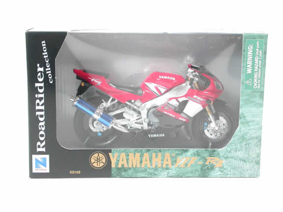 2001 Yamaha YZF R1 Model Diecast Motorcycle 1:12 die cast by NewRay - Red