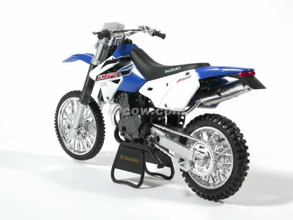 Suzuki DR Z400 Model Diecast Dirt Bike Motorcycle 1:12 die cast by NewRay - Blue
