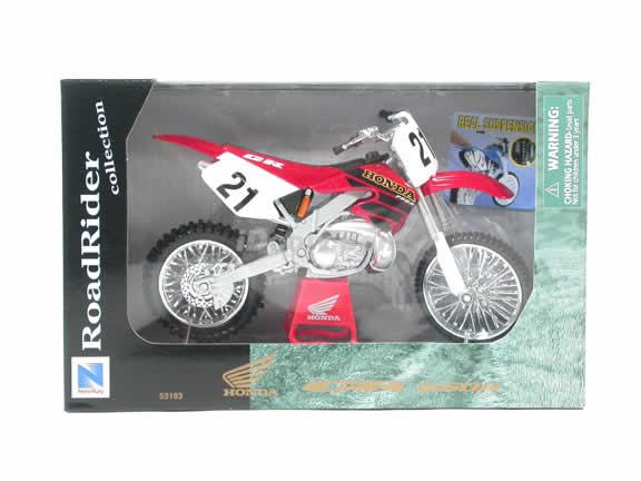 Honda CR 250R Model Diecast Dirt Bike Motorcycle 1:12 die cast by NewRay - Red