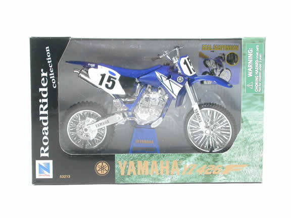 Yamaha YZ 426F Model Diecast Dirt Bike Motorcycle 1:12 die cast by NewRay - Blue