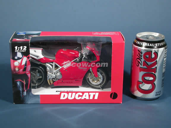 Ducati 998s Model Diecast Motorcycle 1:12 die cast by NewRay - Red