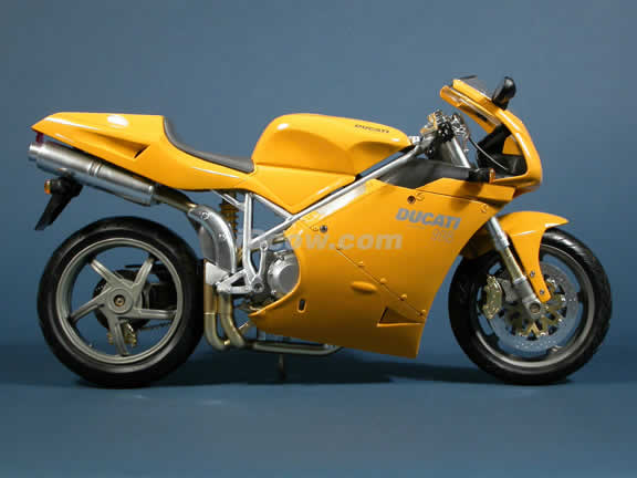 Ducati 998 Model Diecast Motorcycle 1:6 die cast by NewRay - Yellow